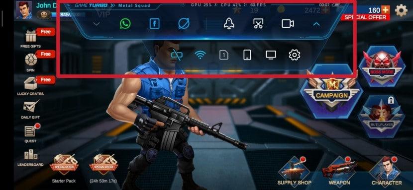 Herramienta de acceso directo de Game Turbo 2.0 de MIUI