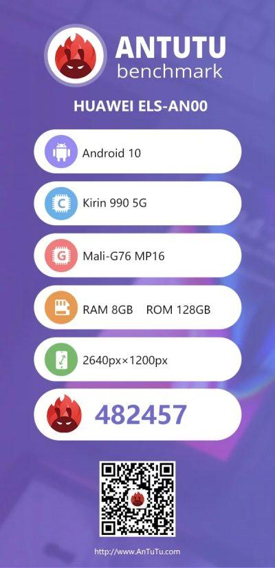 Huawei P40 Pro en AnTuTu