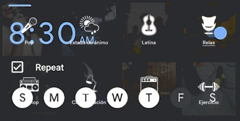 Spotify alarmas