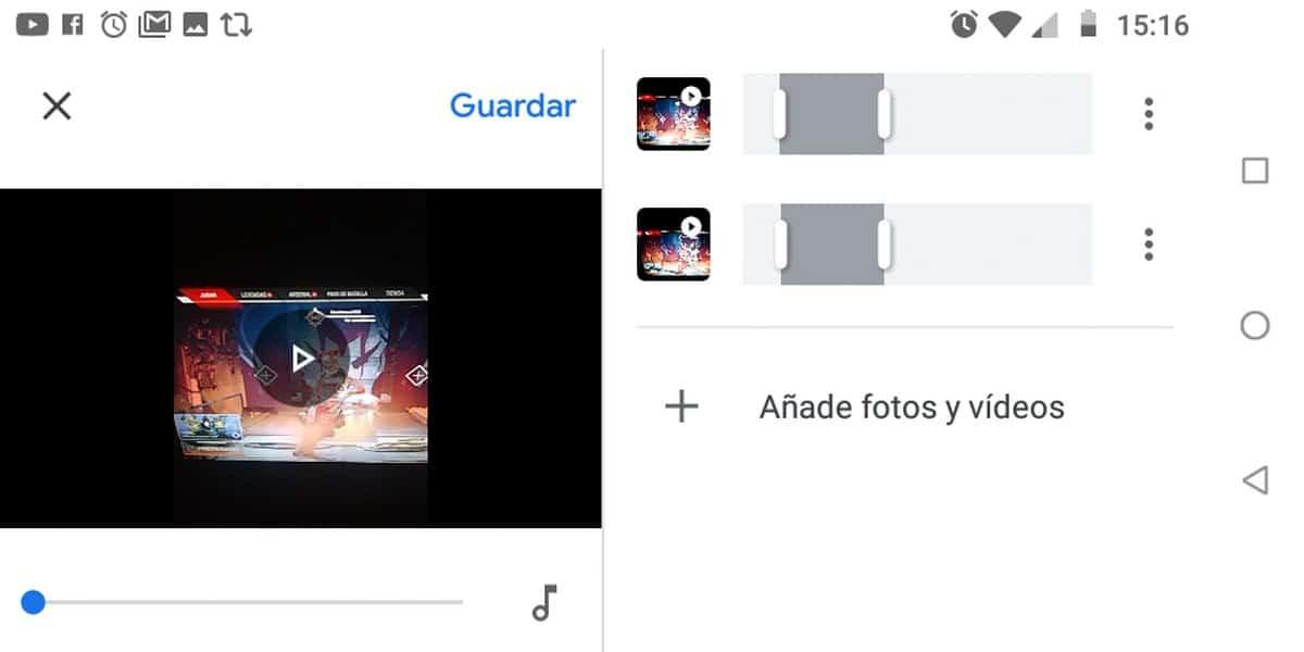 Ajustes videos fotos