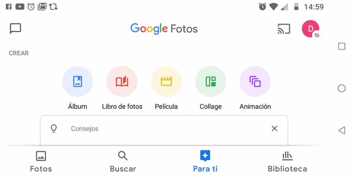 Para ti google fotos