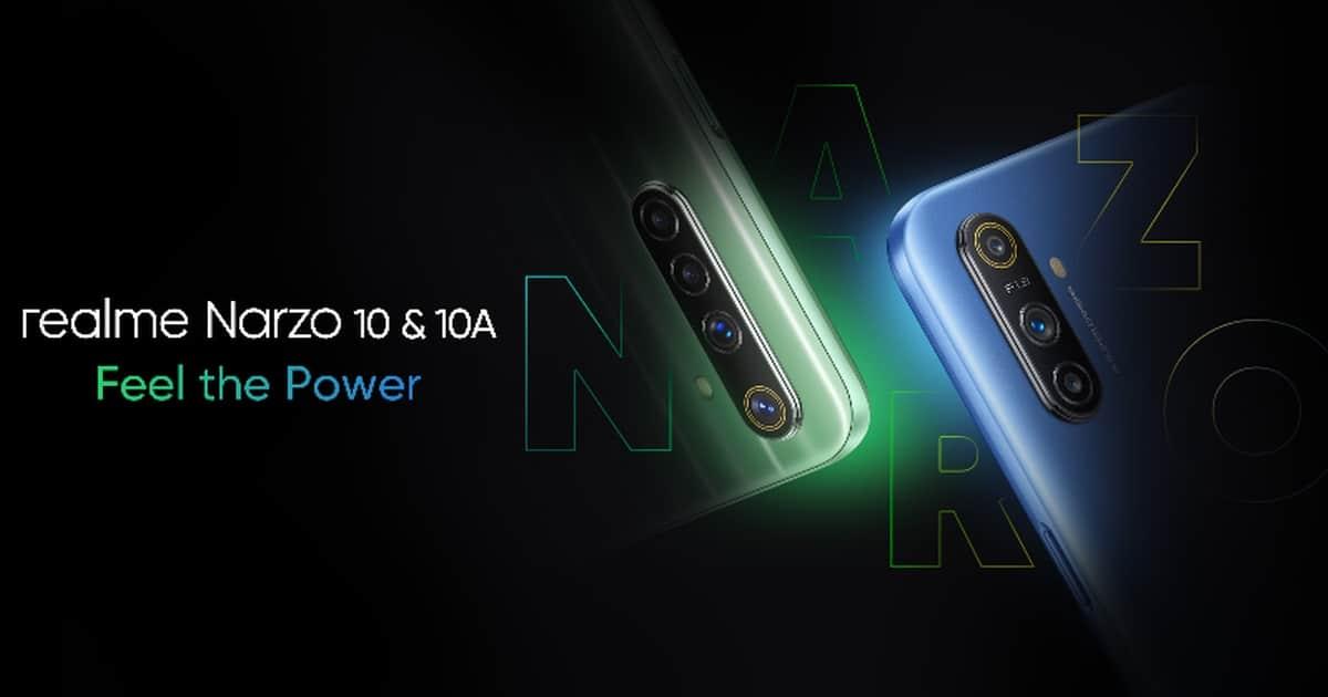 Lanzamiento mostrado del Realme Narzo 10(diez) y 10A