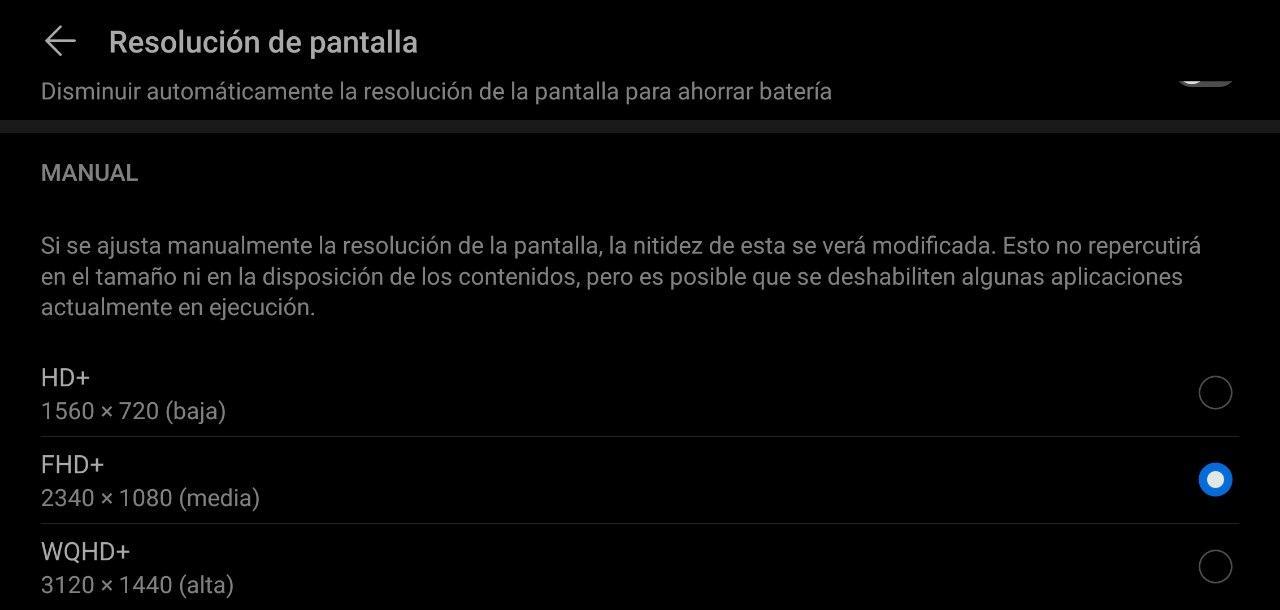 Cómo cambiar la resolución de la pantalla de tu Android