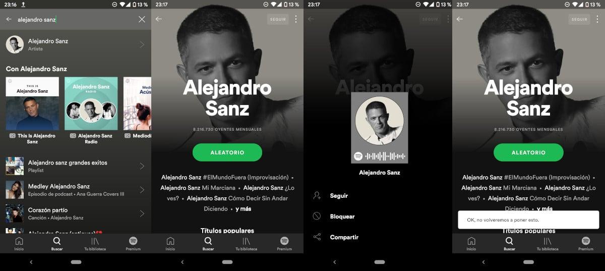 Cómo bloquear artistas en Spotify