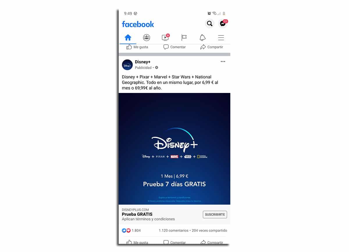 Facebook antes