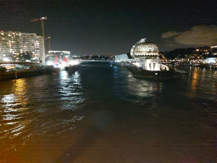 Foto de noche del Galaxy A71