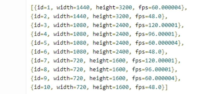 Modos de pantalla del Galaxy S20