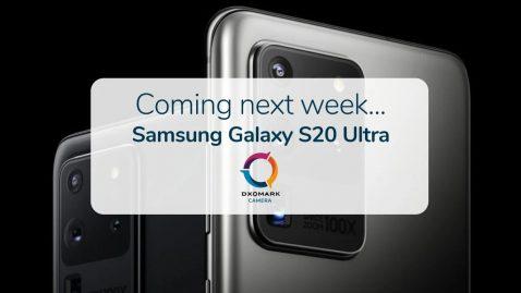 El Galaxy S20 Ultra pronto contará con la calificación de DxOMark