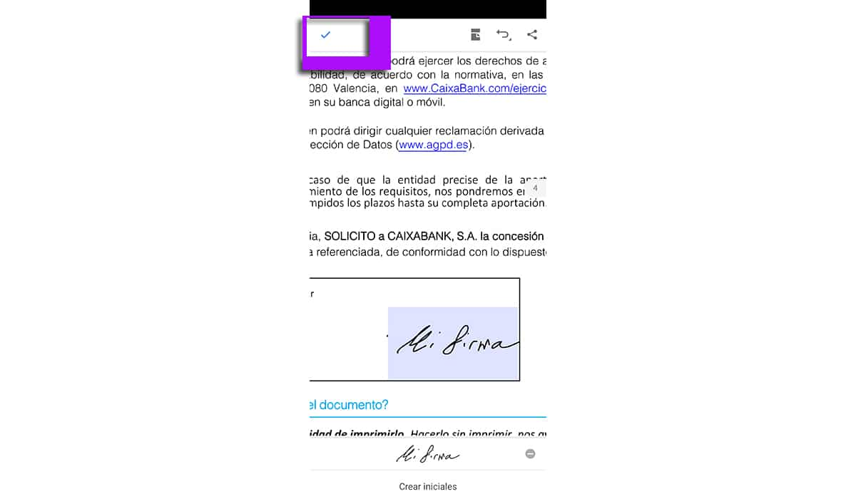 Guardar documento PDF firma digital