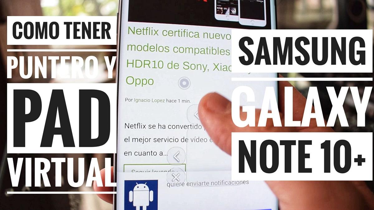 Puntero en el Galaxy Note 10