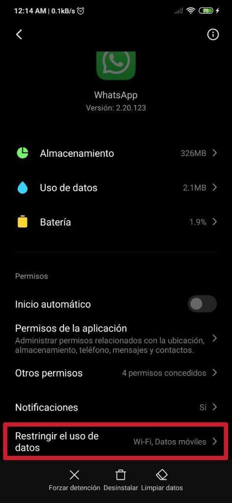 Restringir datos y Wi-Fi en apps en Xiaomi y Redmi