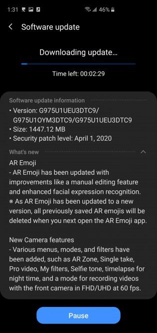 Samsung One UI 2.1 para el Galaxy S10