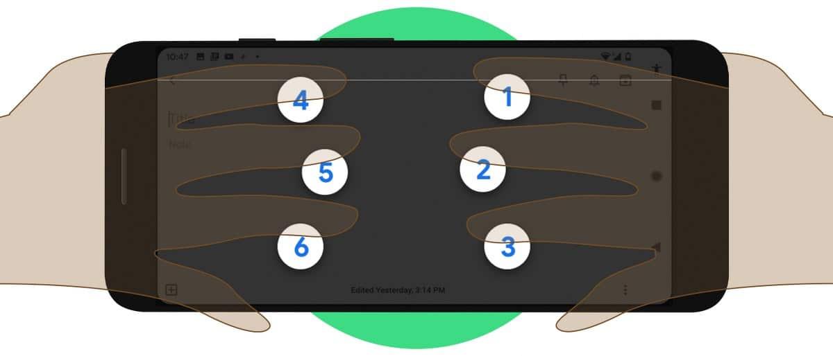 Talkback braille