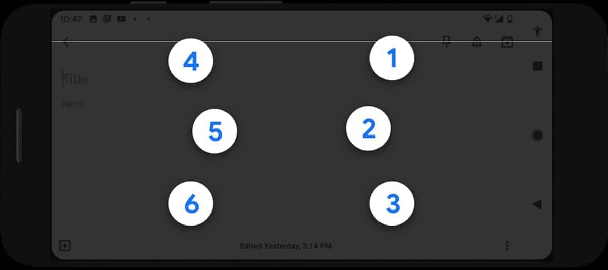 Teclado en braille