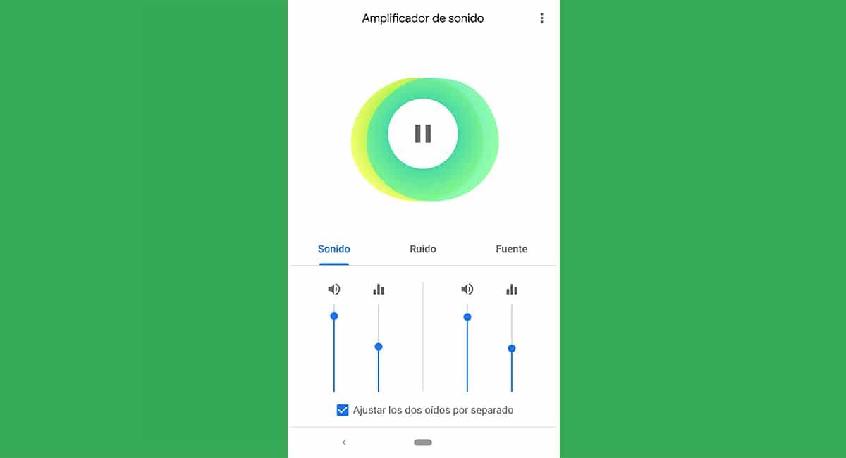 amplificar el audio de vuestro entorno