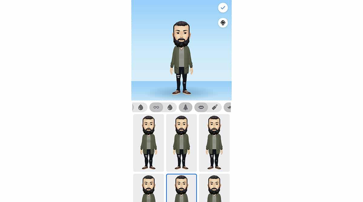 Vestuarios de avatar de Facebook