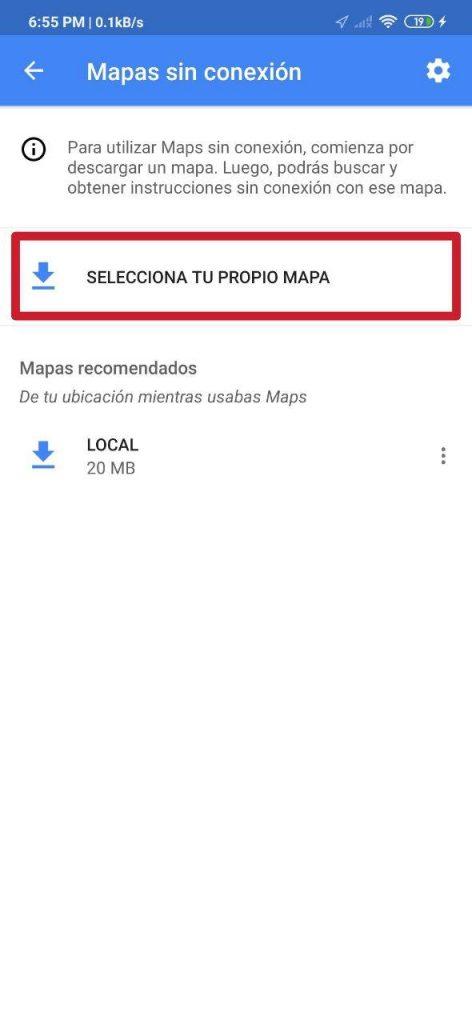 Cómo descargar mapas en Google Maps