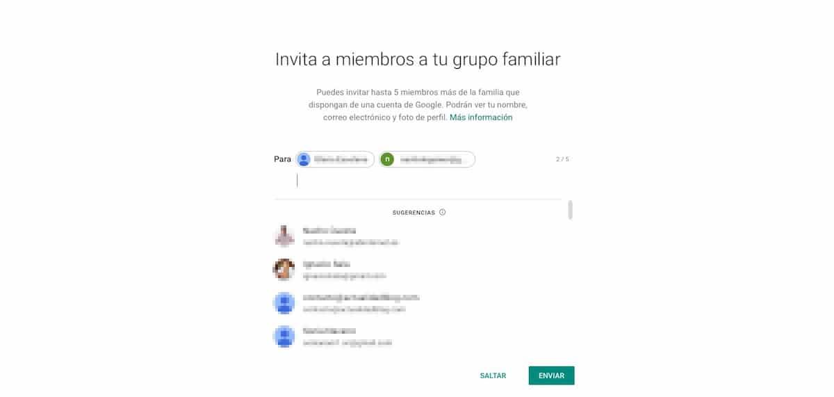 Crear una cuenta familiar en Google