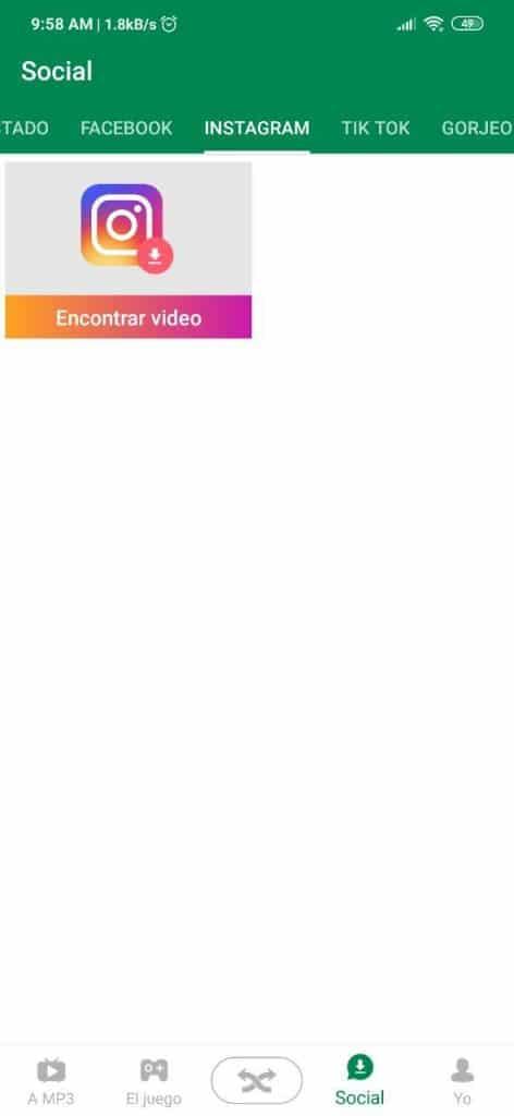 Descargar publicaciones de Instagram™ con Xender