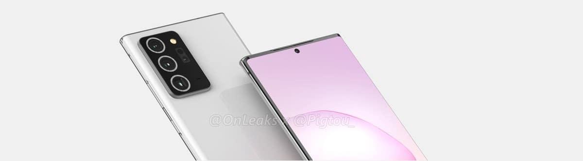 diseño del Samsung Galaxy Note 20+