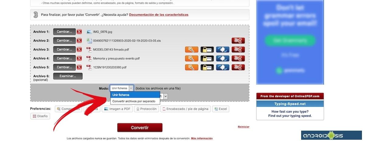 onlinePDF modo