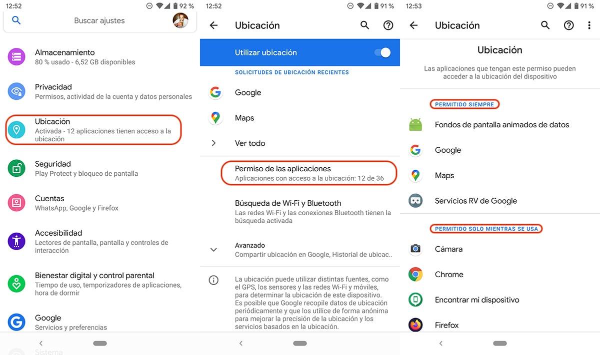 Aplicaciones Android con acceso a nuestra ubicación
