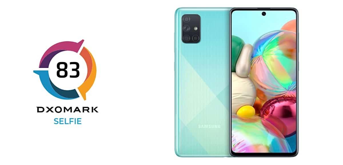 Review de la cámara frontal del Galaxy A71 por DxOMark