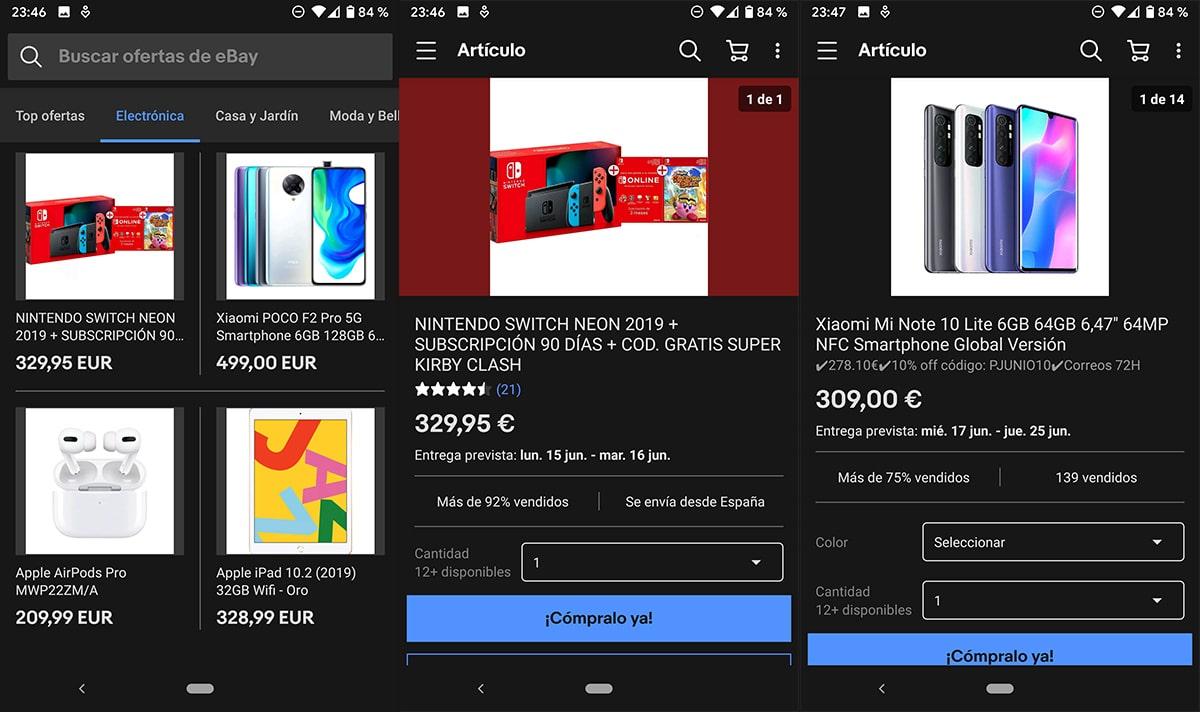 Cómo activar el modo oscuro en eBay
