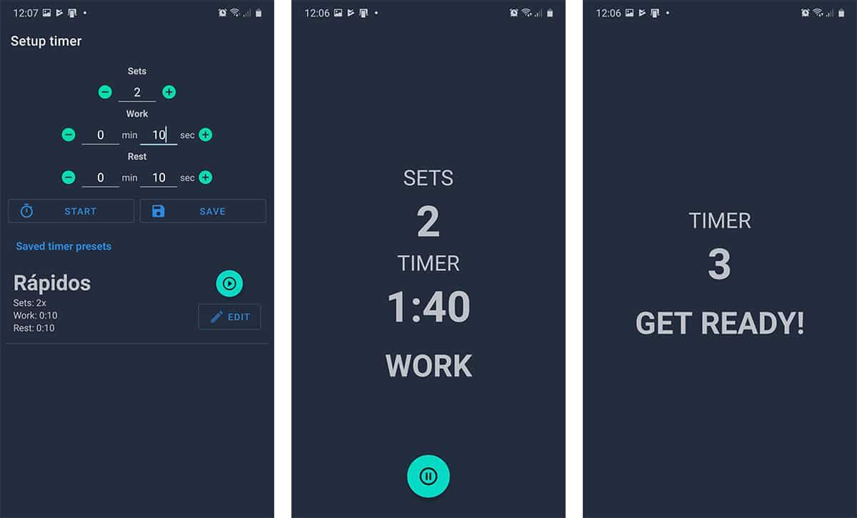 App de intervalos de tiempo