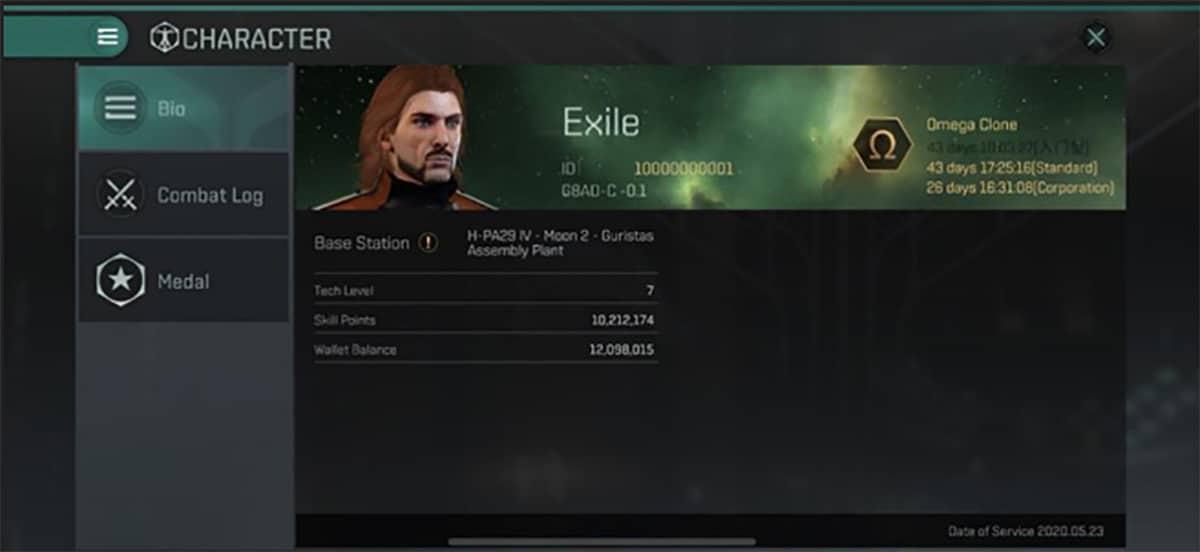 Clon Omega en EVE Echoes