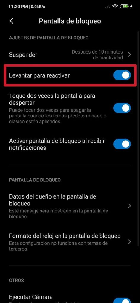 Cómo encender la pantalla del móvil con solamente levantarlo