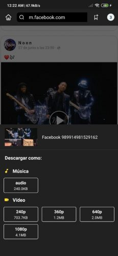 Descarga de música y videos con Snaptube
