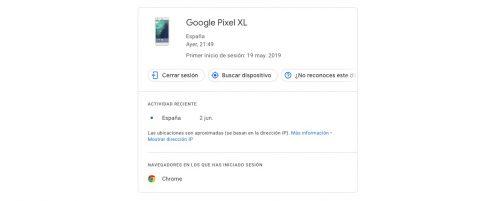 dispositivos están asociados a mi cuenta de Google