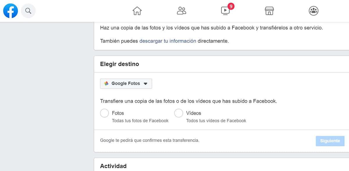 Facebook pasar Google Fotos