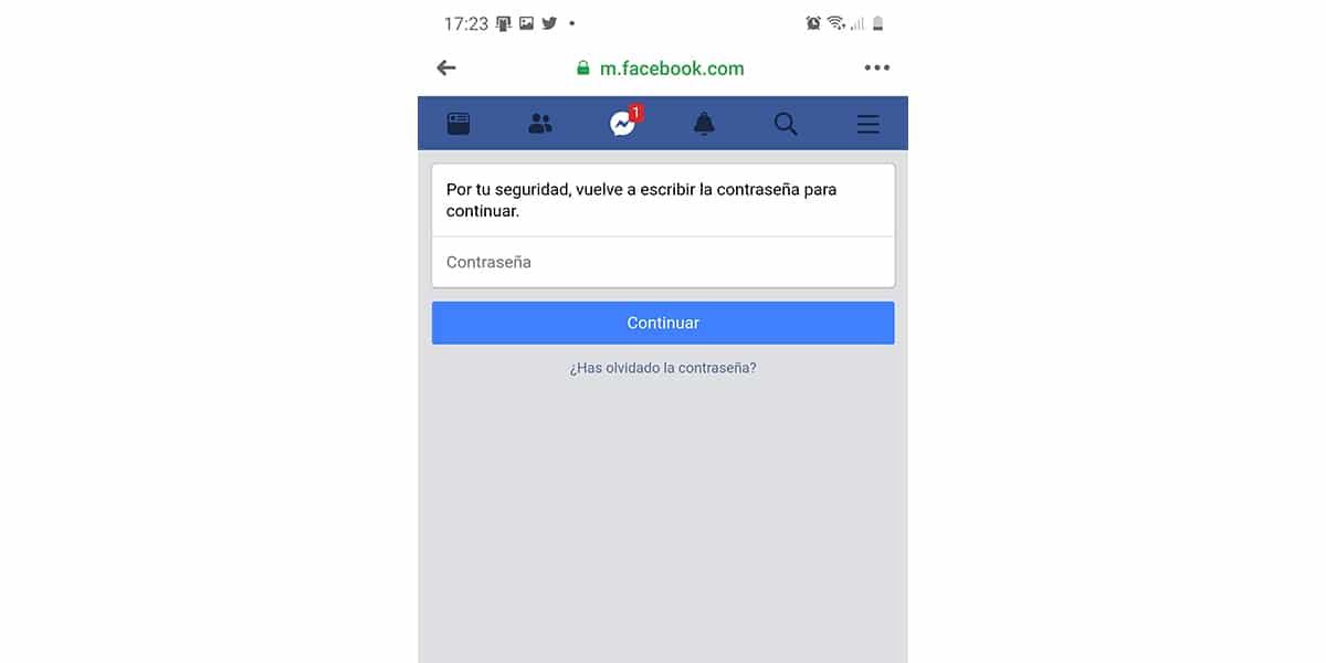 Iniciar sesión para transferencia de fotos de Facebook
