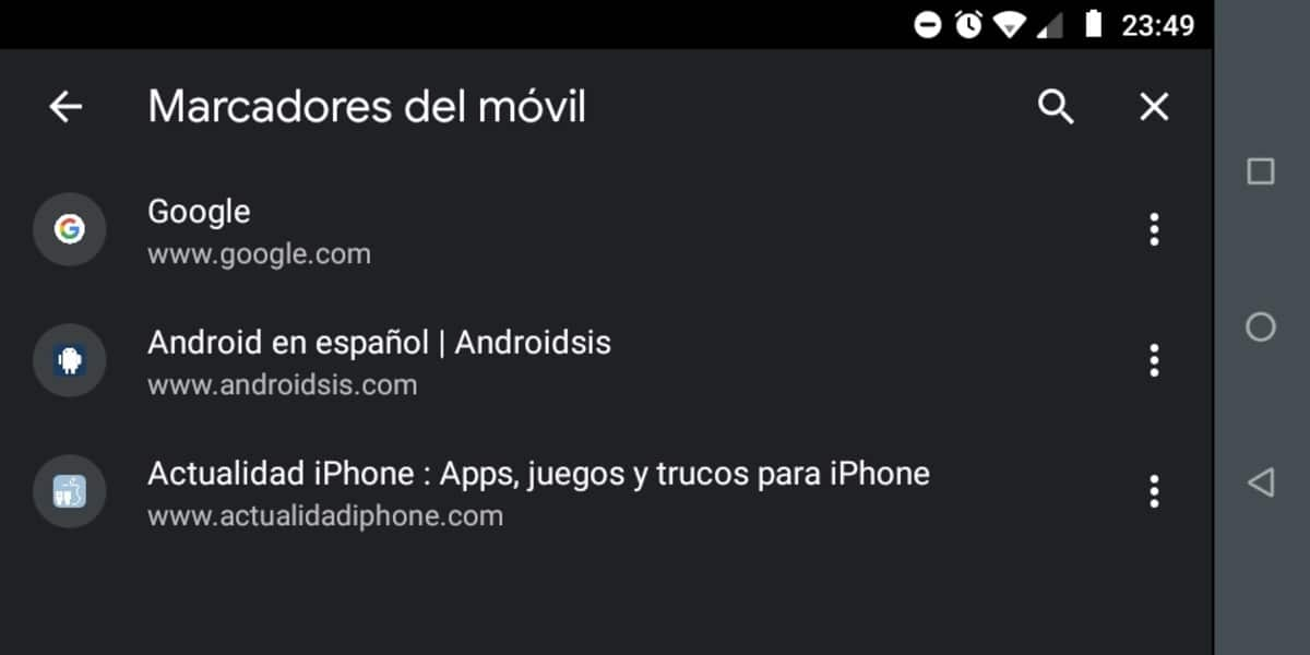 marcadores android