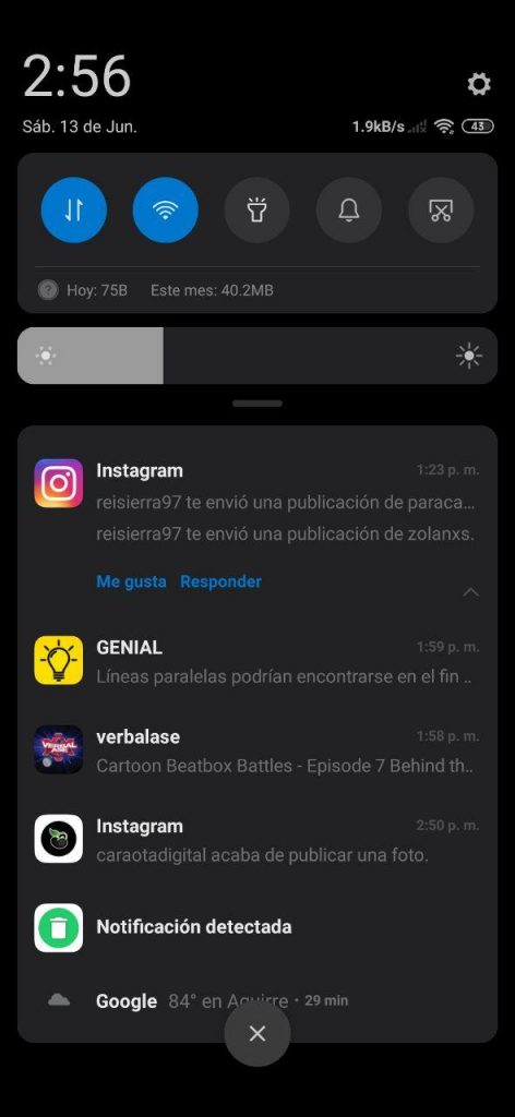 Notificaciones MIUI