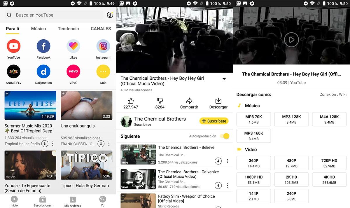 SnapTube - Descargar Música gratis Android