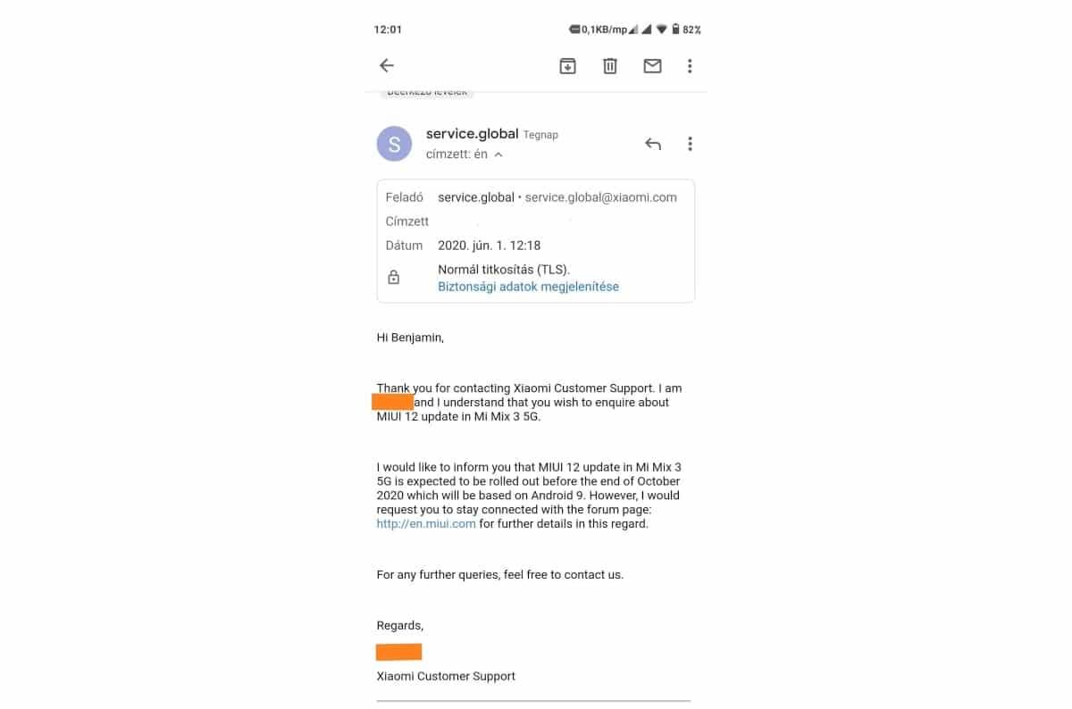 El Xiaomi Mi MIX 3 5G no obtendrá Android 10, pese a que recibirá MIUI 12 en octubre