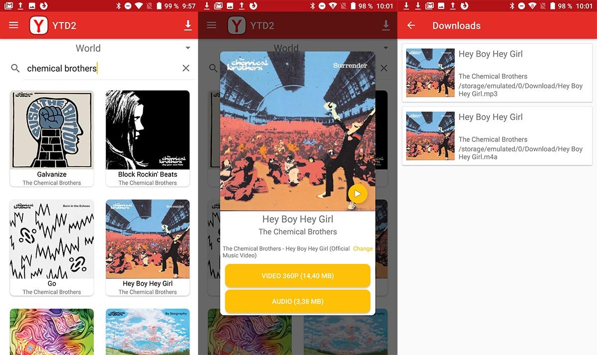 YTD 2 - Descargar Música gratis Android