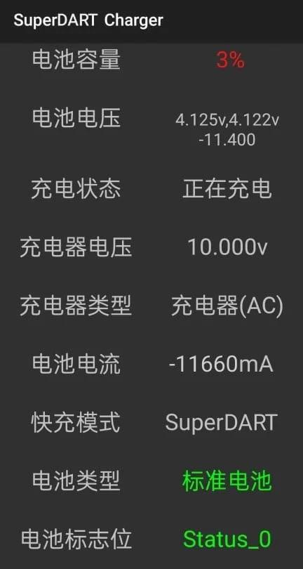 Carga rápida Ultra Dart de 120 W