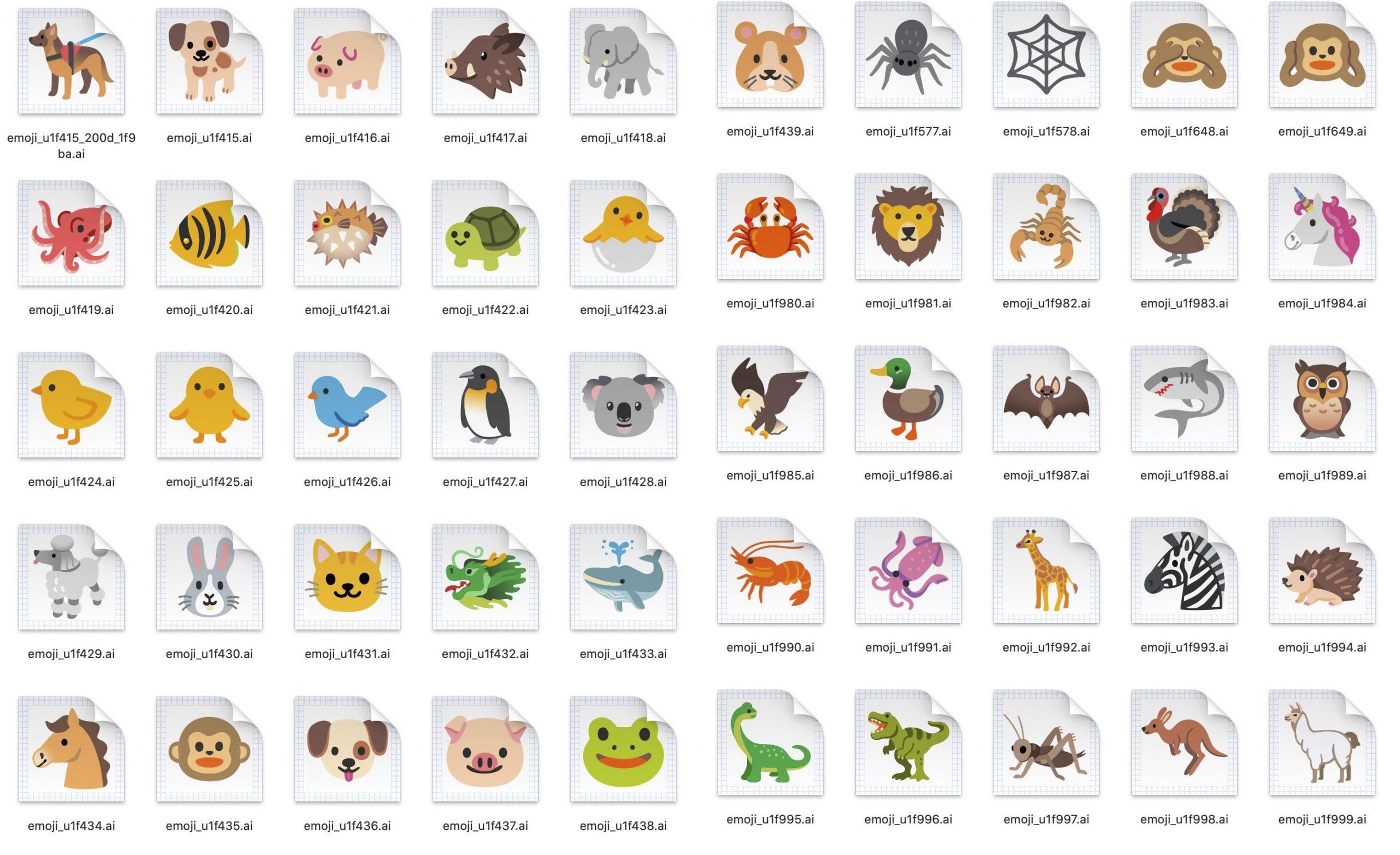 Animales emojis