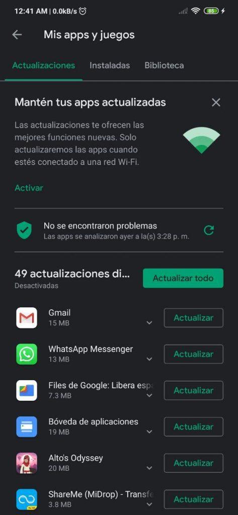 Apps y juegos en la Play Store