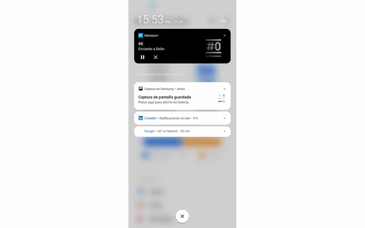 Centro de control de alertas de iOS