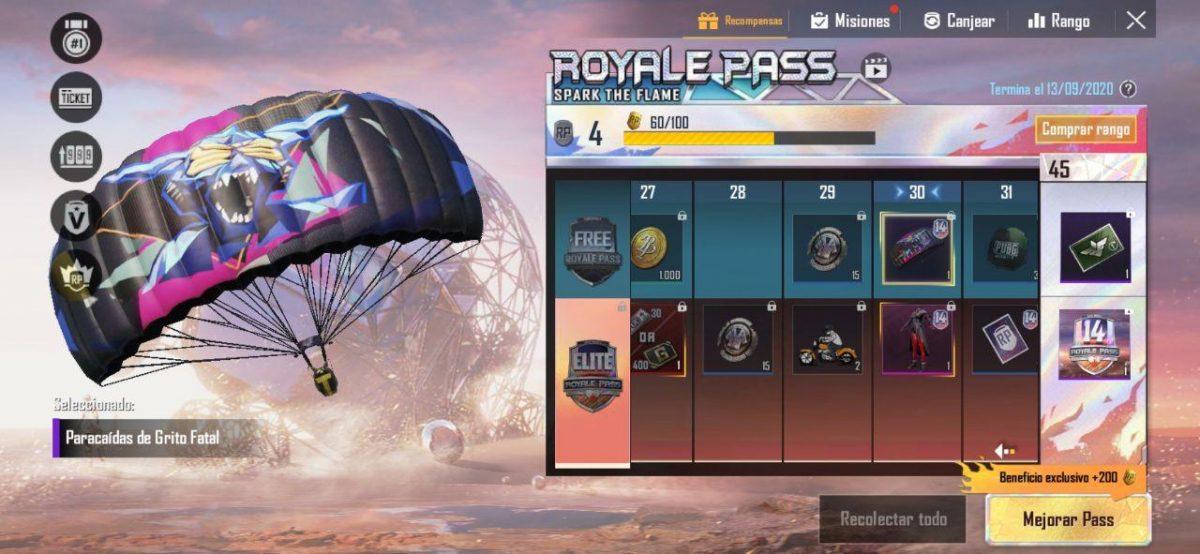 Realiza misiones de Royale Pass para conseguir snkins gratis y otras recompensas