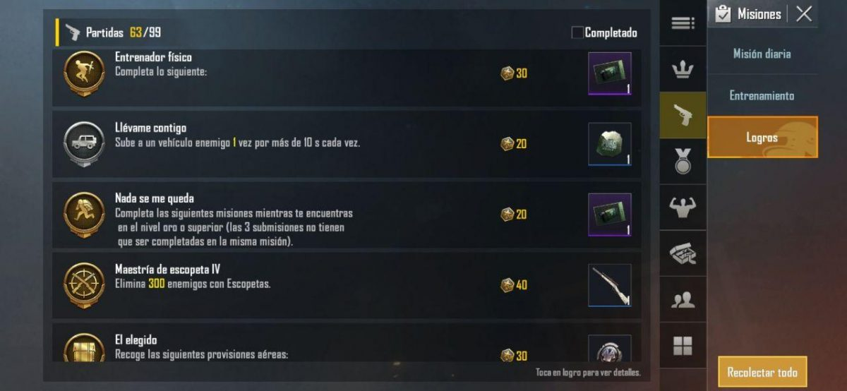 Completa logros para obtener skins gratis