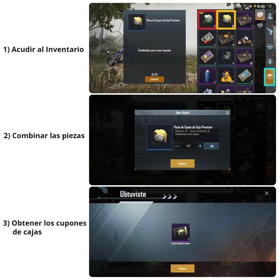 Cómo obtener cupones de cajas clásicas y premium en PUBG Mobile