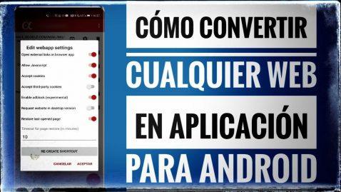 Convertir Webs en Webs Apps