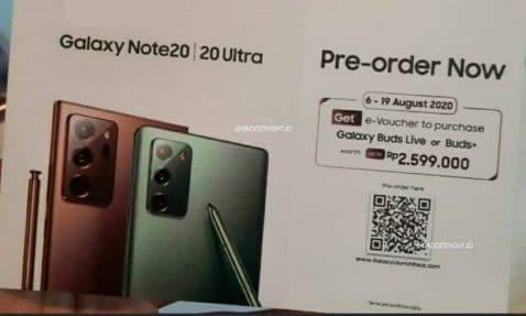 Galaxy Note 20 Ultra buds gratis