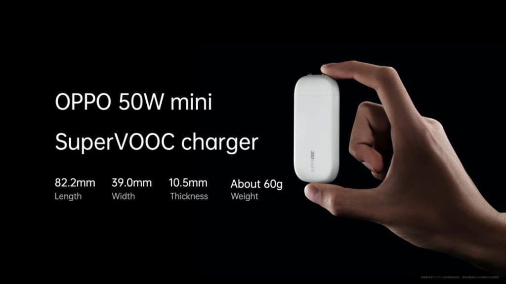 Mini cargador SuperVOOC de 50 W